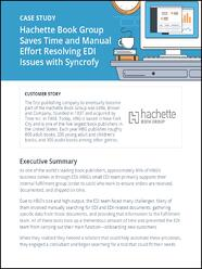 Hachette uses Syncrofy EDI visibility tool to resolve issues.